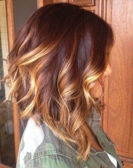 Medium Ombre Hair With Blonde Highlights