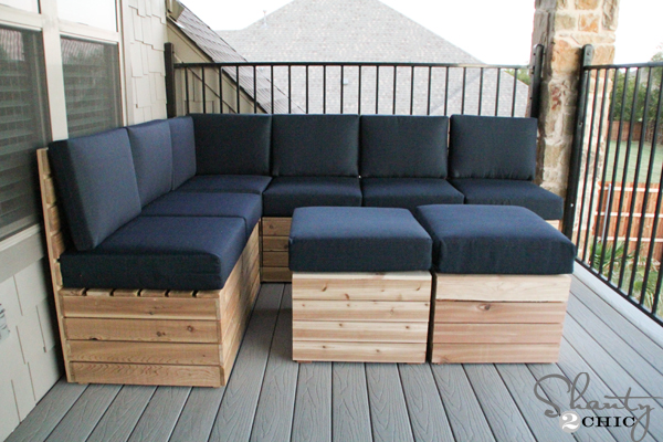 modular outdoor seating - Garden Furniture Crates