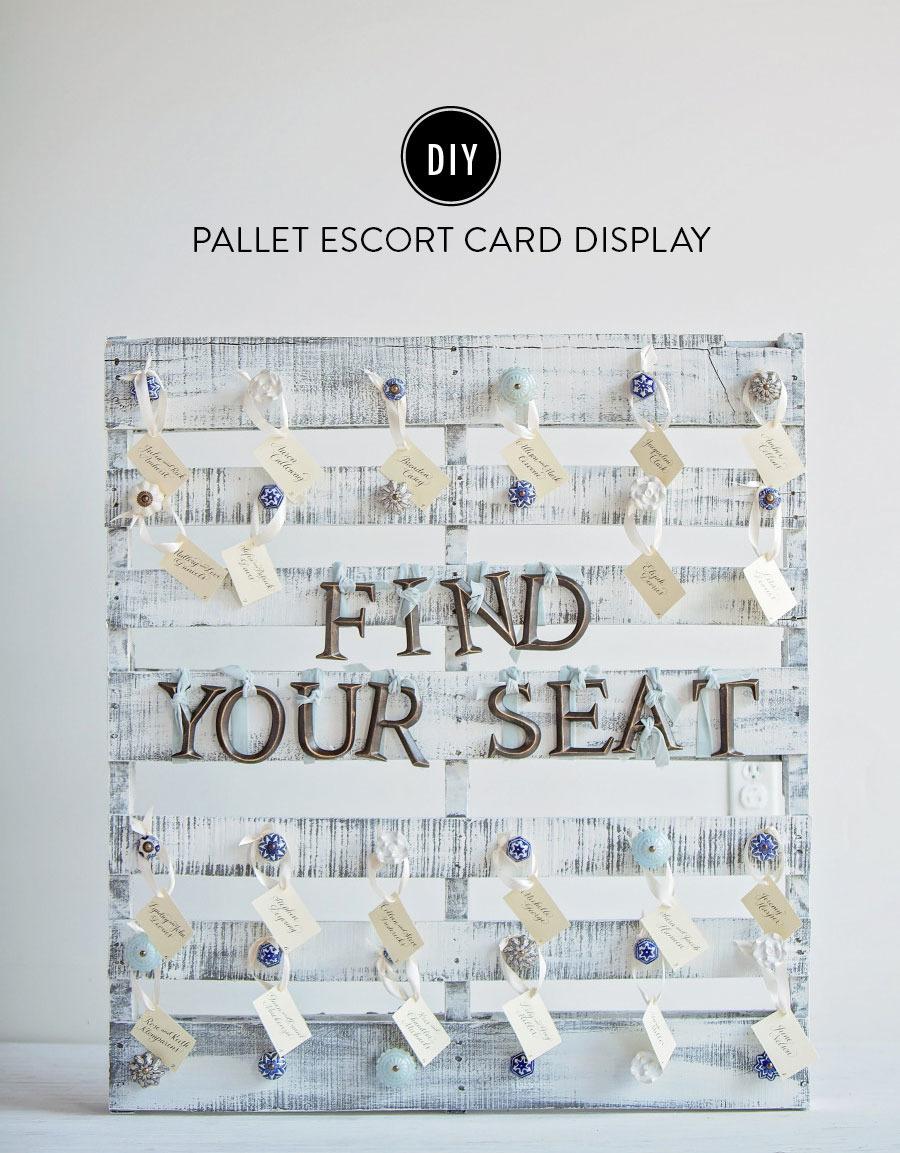 Pallet Escort Card Display