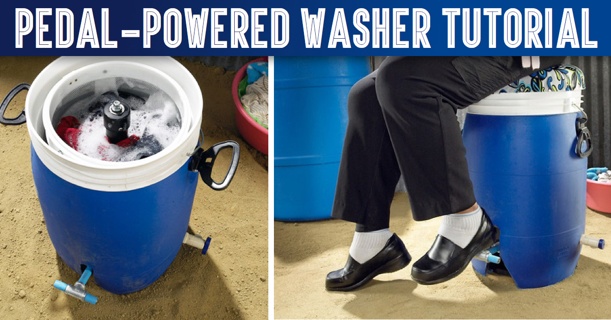 Pedal-Powered Washer Costs Only $40 and Needs No Electricity!