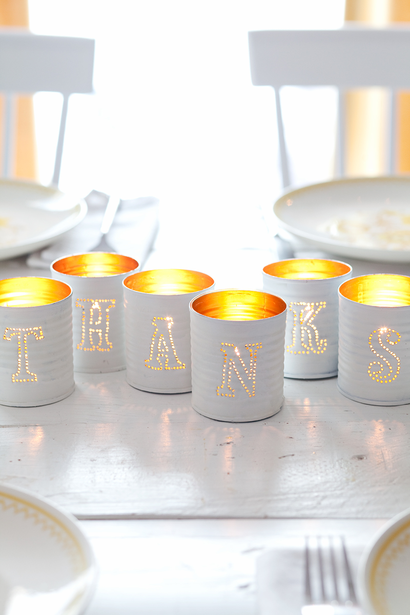 Tin Punched Candles