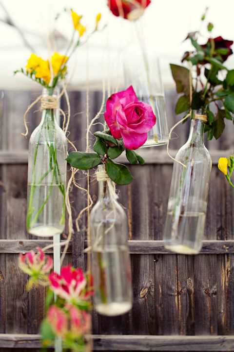 Turn Your Old Wine Bottles Into Chic Wedding Floral Arrangements
