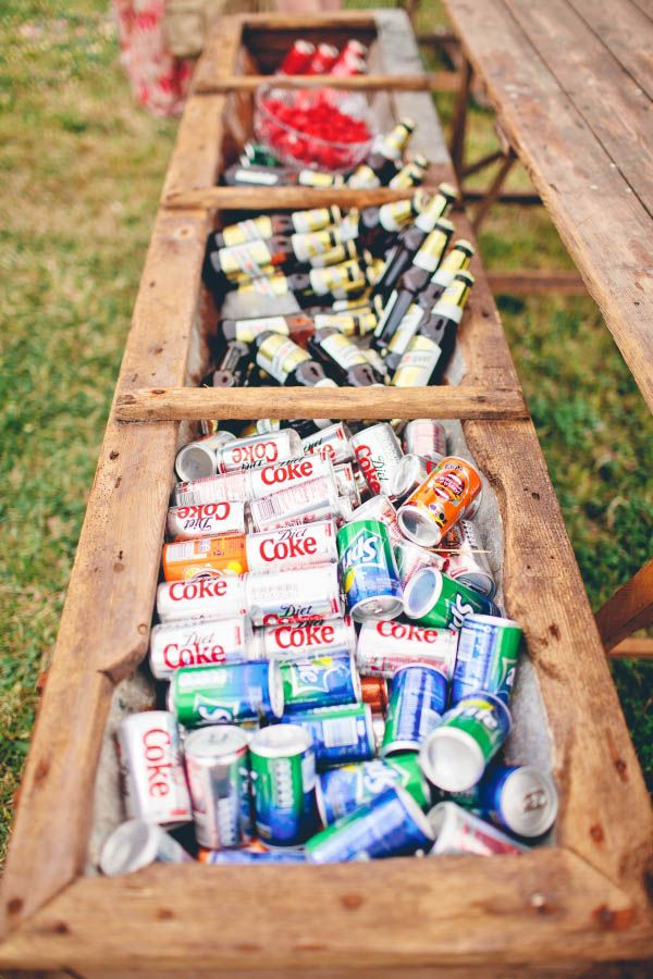 Use A Classic Planter Box As A Cooler For Your Drinks