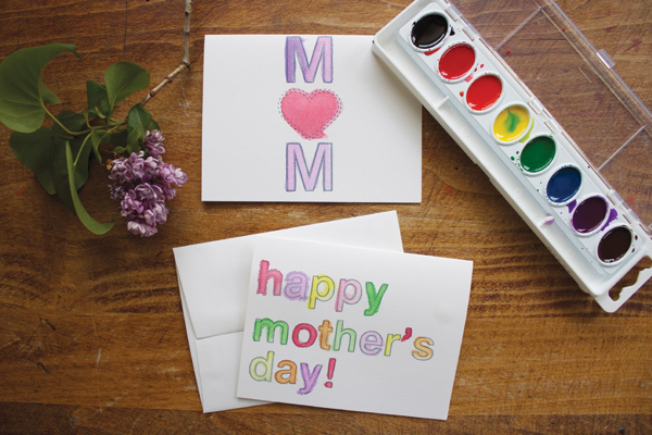 Watercolor-Based Printable Mother's Day Card