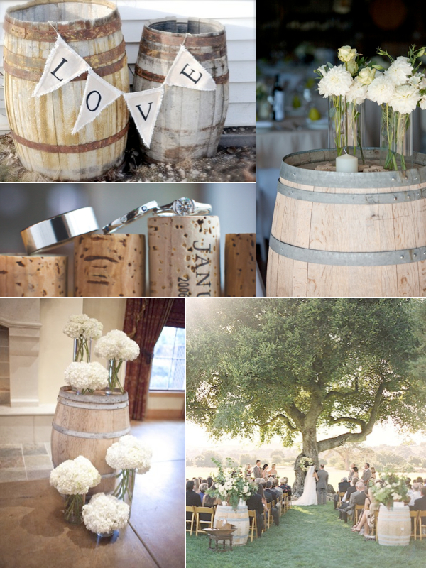 Wine Barrel Wedding Décor