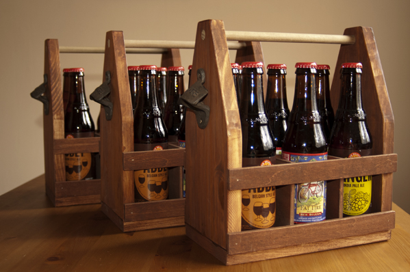 Wooden Beer Totes