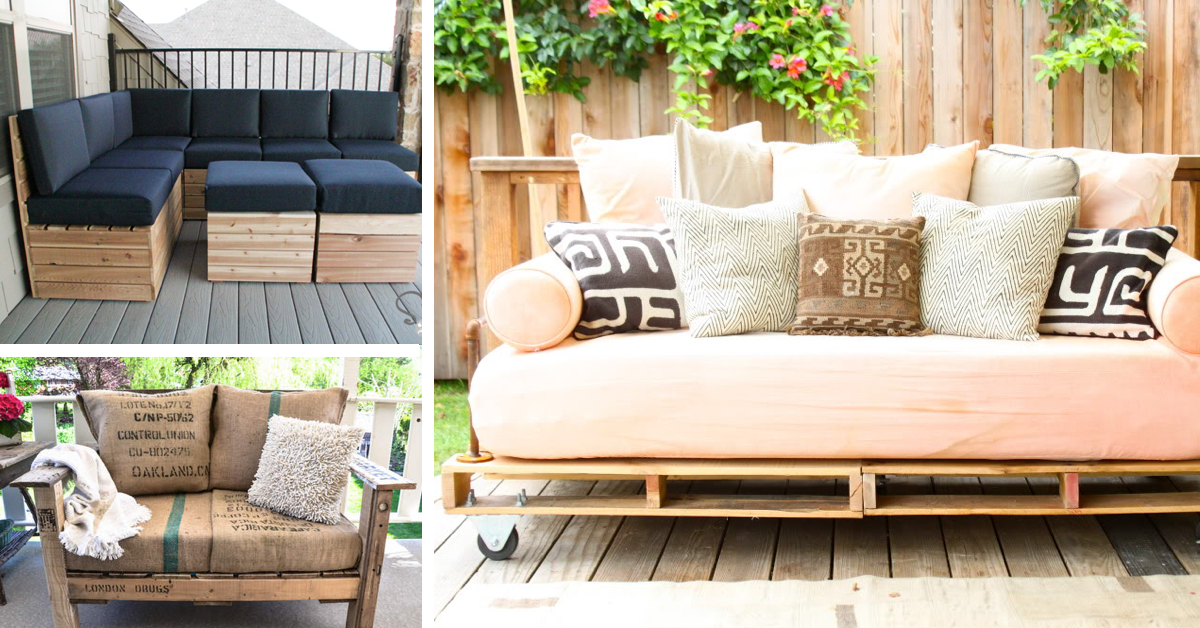 20 DIY Pallet Patio Furniture Tutorials For A Chic And Practical Outdoor Patio Cute Projects