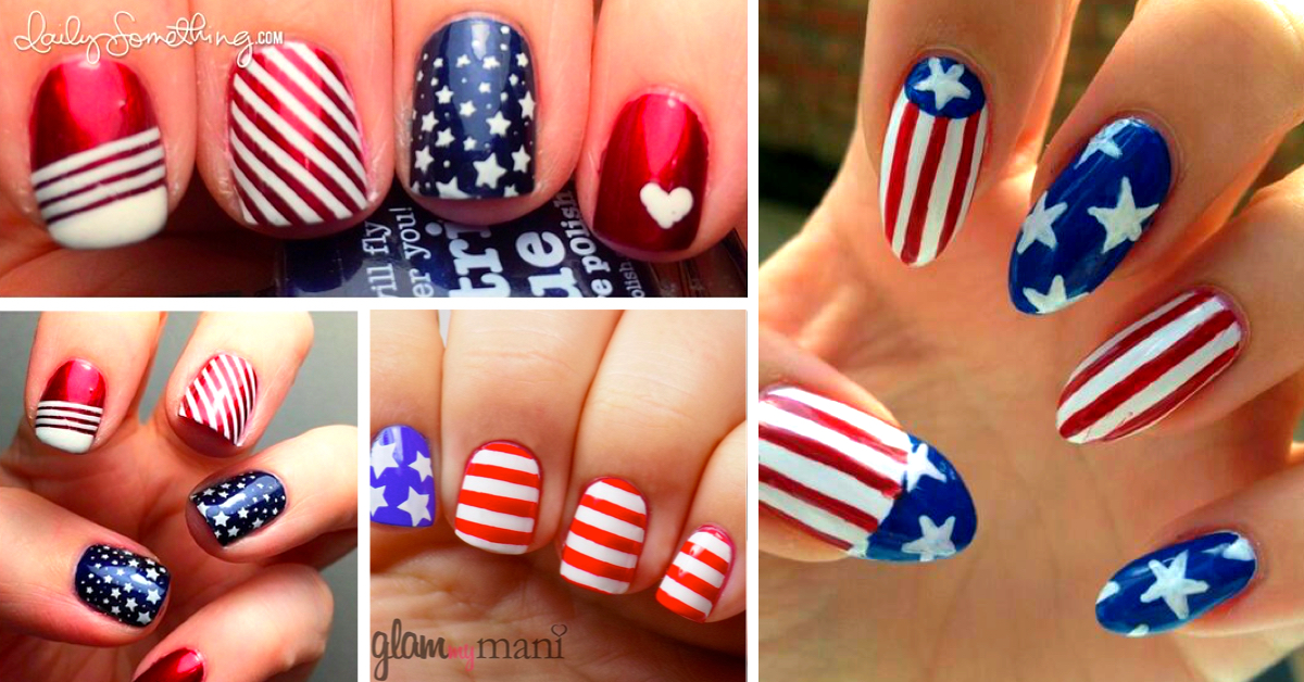 20 amazing patriotic nail designs for the 4th of july cute diy 20 amazing patriotic nail designs for the 4th of july cute diy projects prinsesfo Choice Image