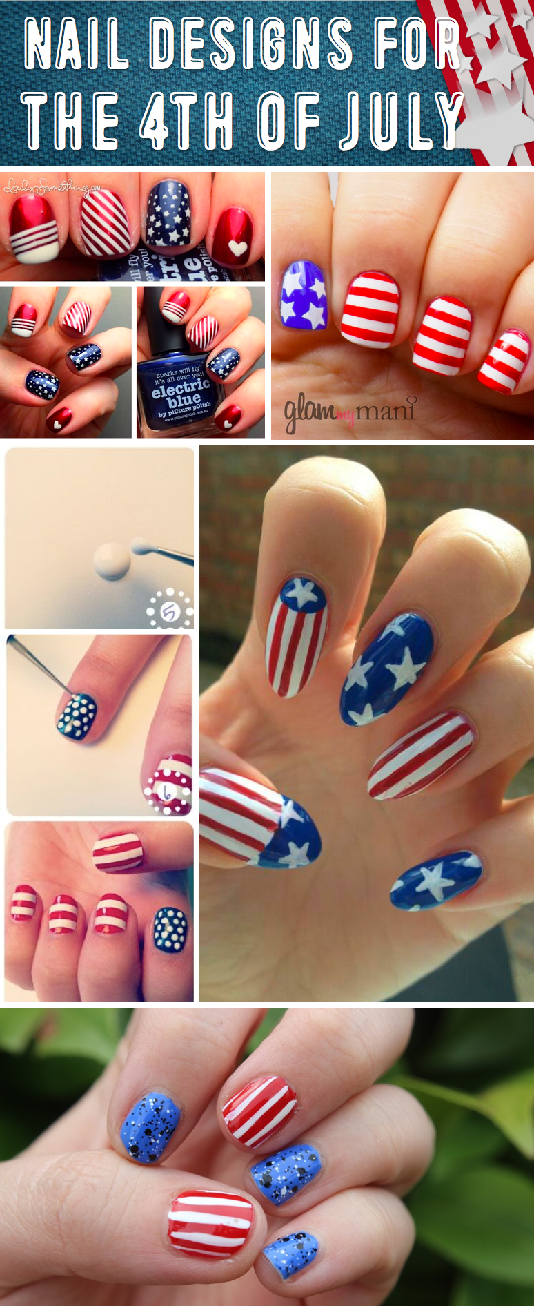 20 amazing patriotic nail designs for the 4th of july cute diy 20 amazing patriotic nail designs for the 4th prinsesfo Choice Image