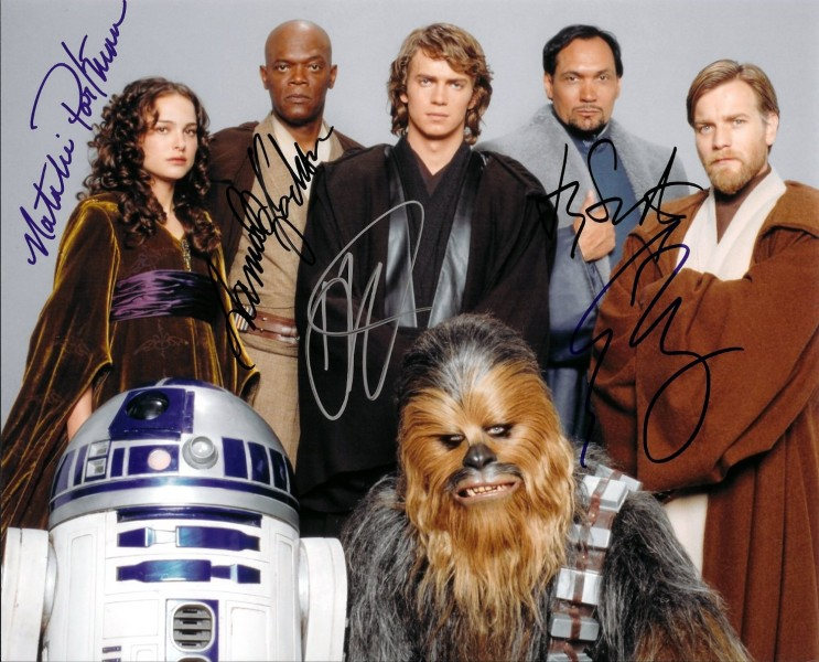 Autographed Star Wars Photo