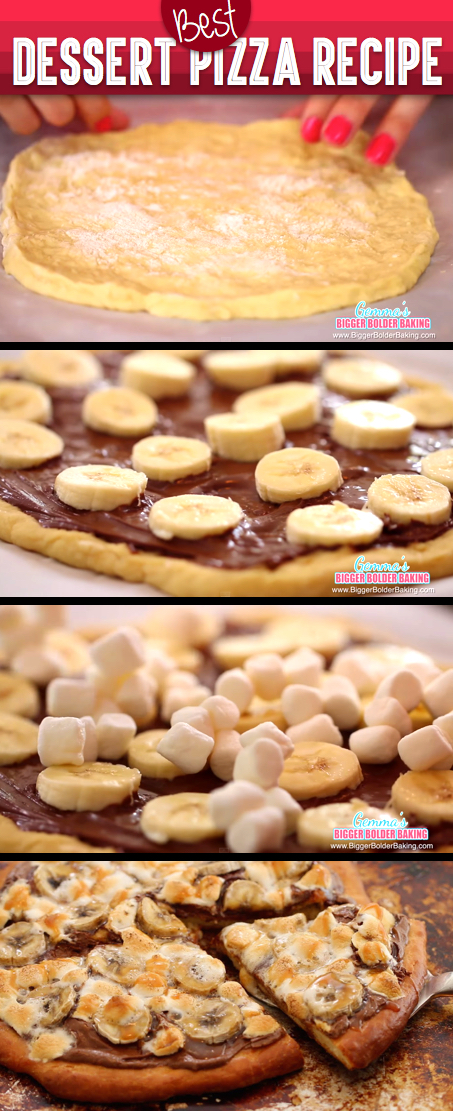 she added marshmallows and bananas in the pizza dough the result every kid s