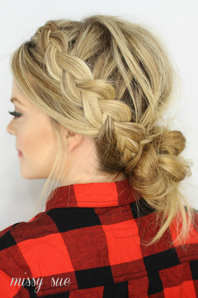 No Part With Edgy Braided Hairstyle