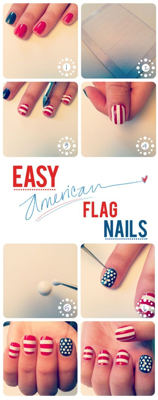 Cool easy nail designs to do yourself beautiful adorable scalloped awesome fun th of july nails many nail design with cool easy nail designs to do yourself solutioingenieria Choice Image