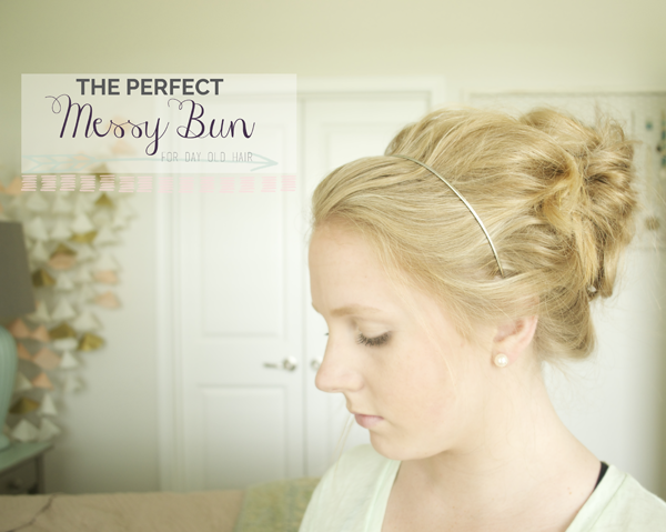Messy Bun Tutorial For Curly Hair