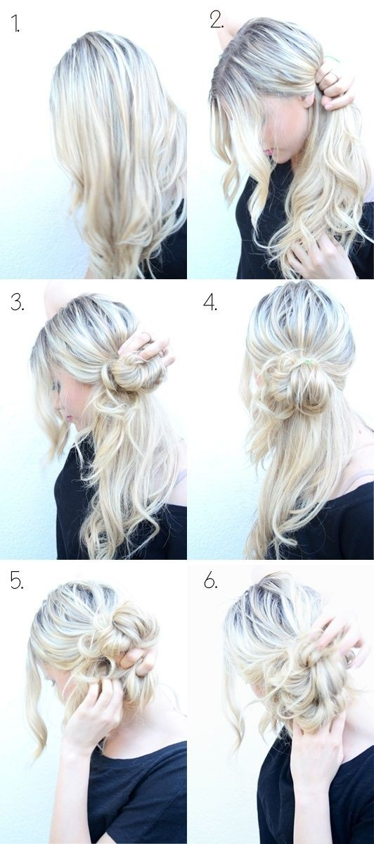 Super Top 25 Messy Hair Bun Tutorials Perfect For Those Lazy Mornings Hairstyles For Men Maxibearus