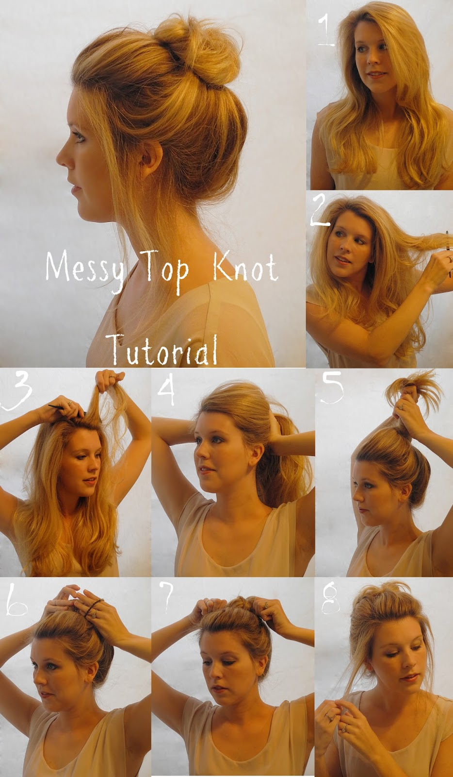 Hairstyle Bun : Bun Tutorials For Medium Hair Hair Bun Tutorial That Has