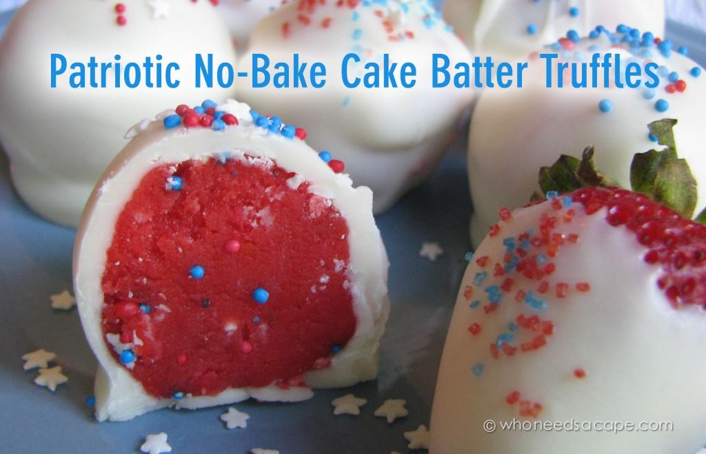 No-Bake Cake Truffles