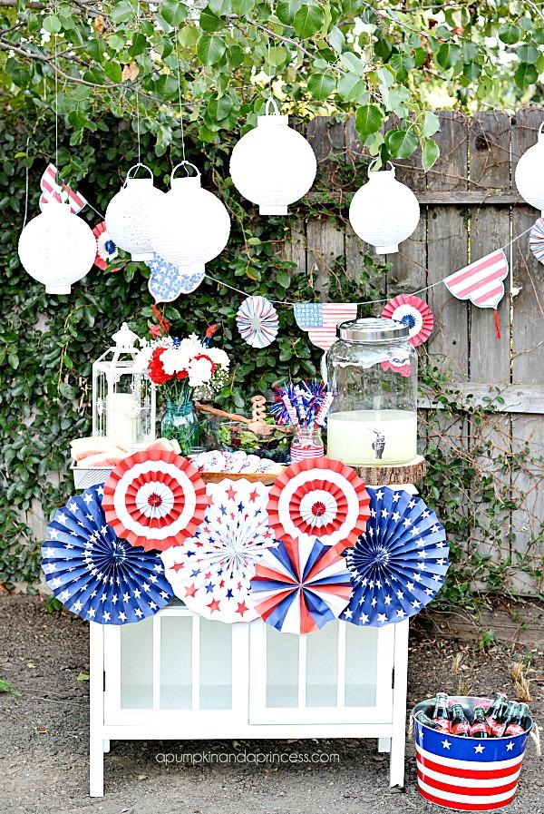 30 inspiring 4th of july party ideas you can make - Make hanging lanterns ...