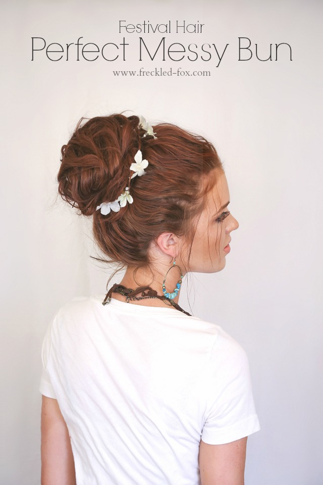 Perfect Messy hair bun for Music Festivals