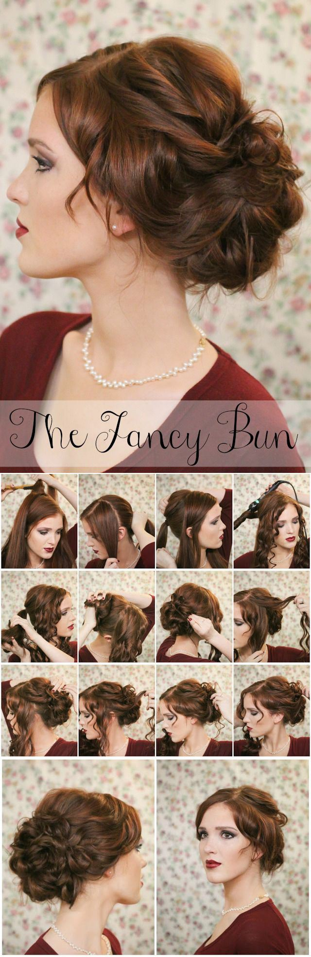 Simple Fancy hair bun!