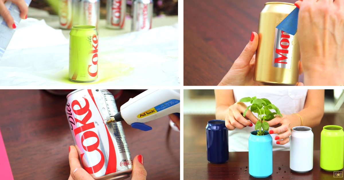 this mom turned soda cans into fun summer ideas cute