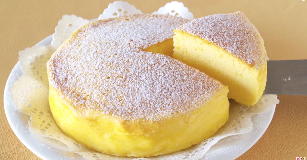 Japanese Cotton Cake Three Ingredients