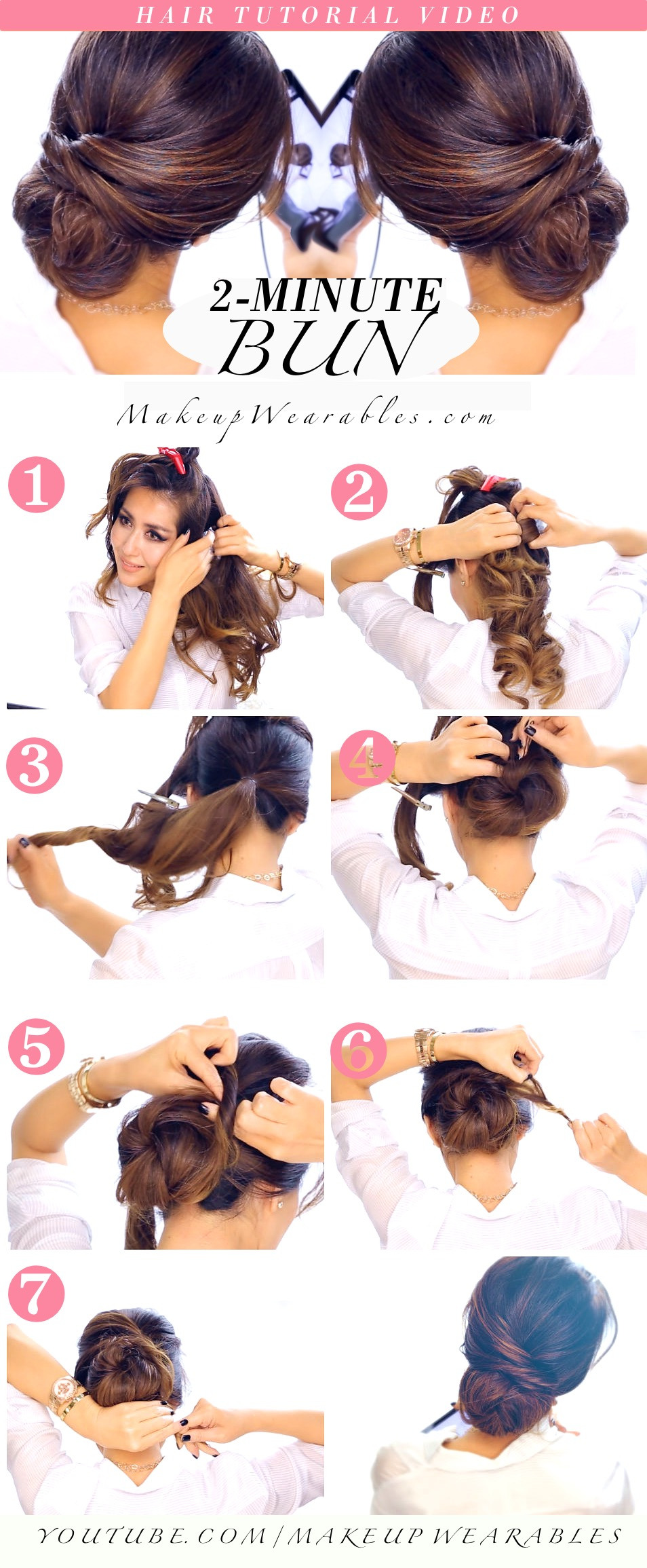 Swell Top 25 Messy Hair Bun Tutorials Perfect For Those Lazy Mornings Short Hairstyles Gunalazisus