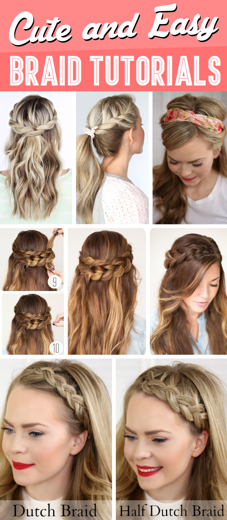 Pleasant 30 Cute And Easy Braid Tutorials That Are Perfect For Any Hairstyles For Women Draintrainus