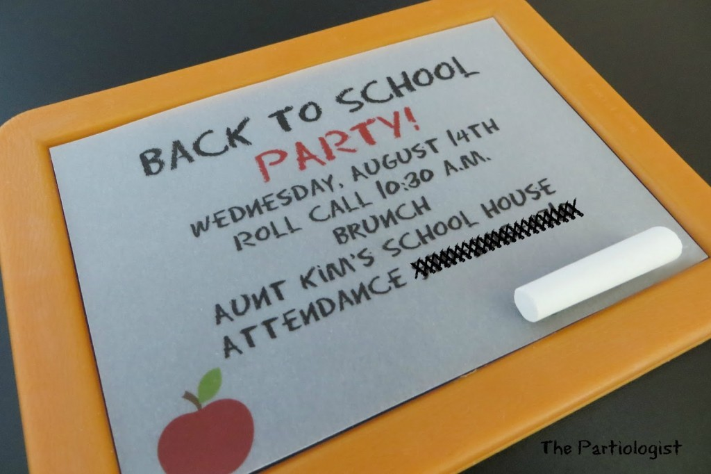 'Back to School' Invitation