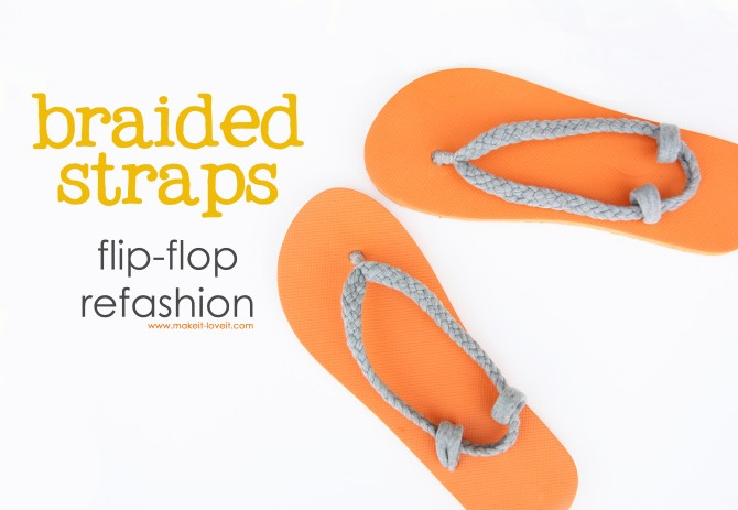 Braided Cloth Flip Flop Straps