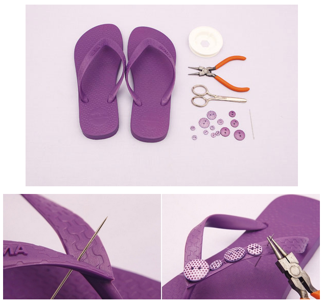 8892af3cb96054 Awesome Summer DIY Flip Flop Ideas For Under  5! – Cute DIY Projects