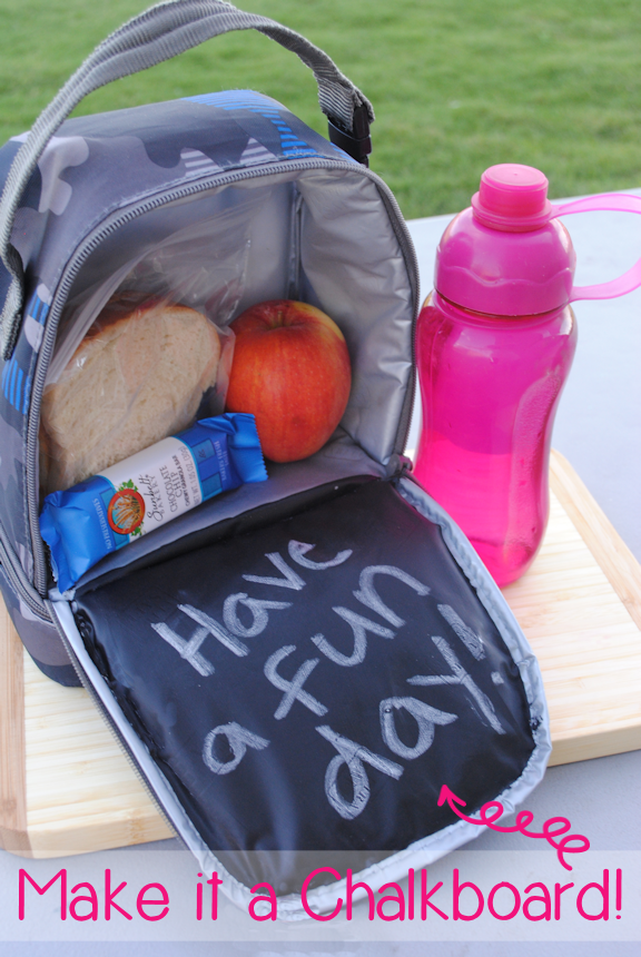 DIY Lunch Box with Chalkboard