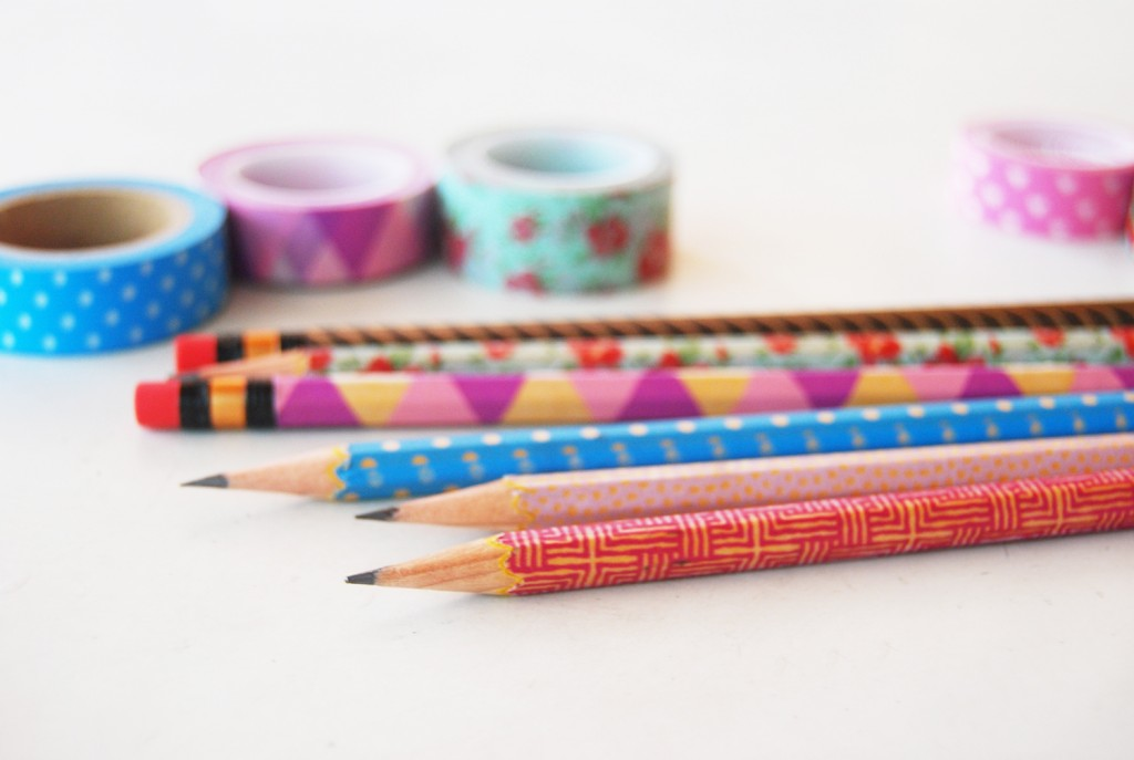 Decorating Pencils with Washi Tape