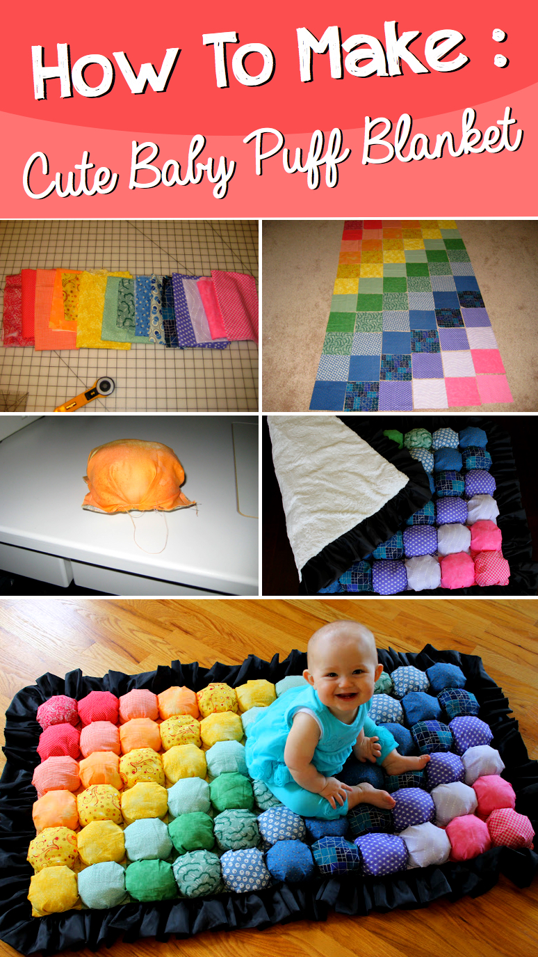 How to make a super cute baby puff blanket cute diy projects for Cute diys to sell