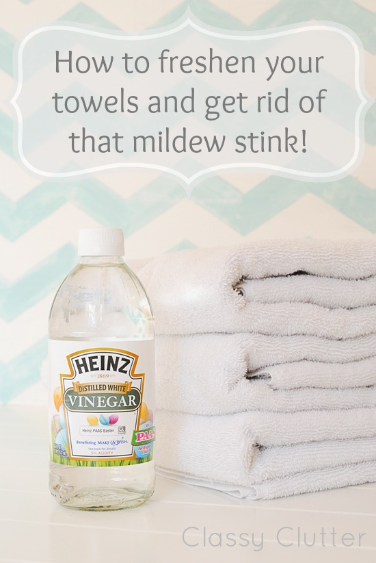 How to Get Rid of the Mildewy Stink from Towels