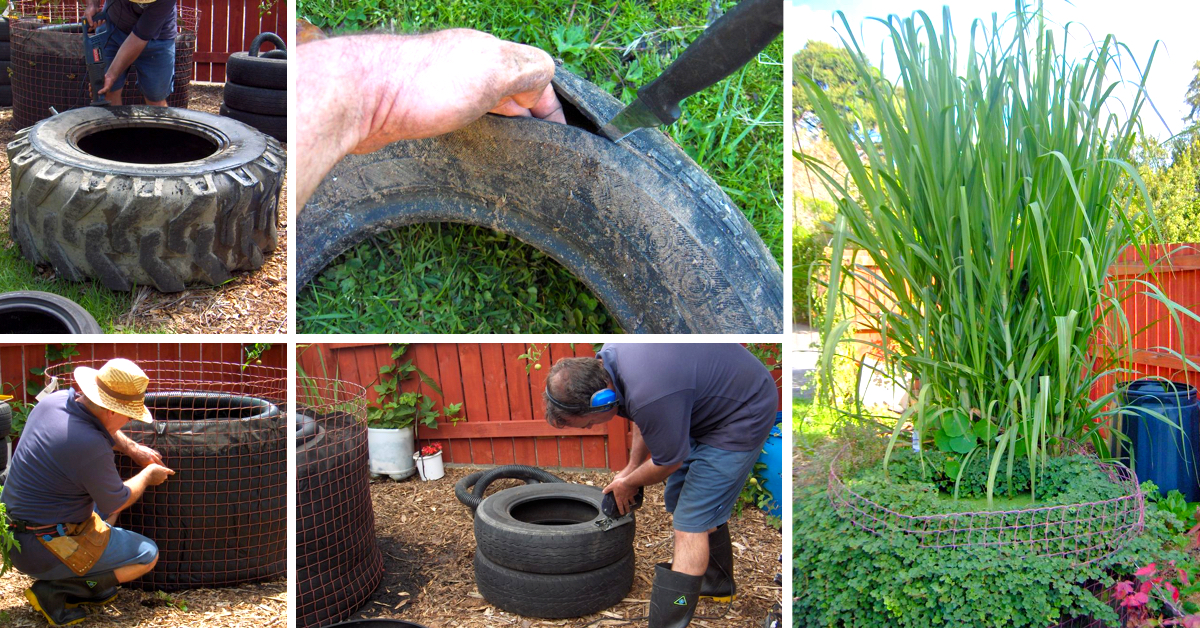 How to make a decorative fish pond from old tires cute for Pond decoration ideas