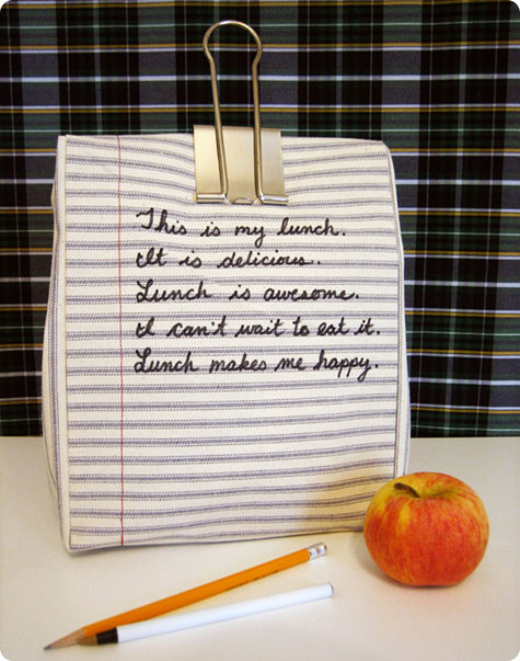 Kate's Notebook Lunchbag