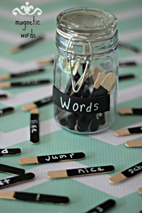 Magnetic Words in a Jar