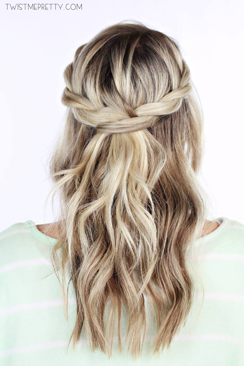 30 cute and easy braid tutorials that are perfect for any 15 twisted crown braid solutioingenieria Choice Image