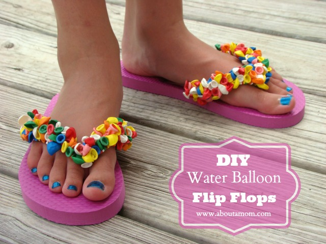 Water Balloon Flip Flop Straps