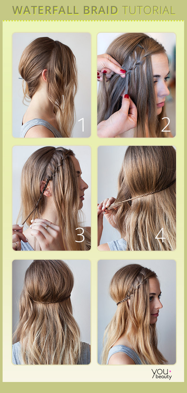 30 cute and easy braid tutorials that are perfect for any occasion 5 waterfall braid solutioingenieria Images