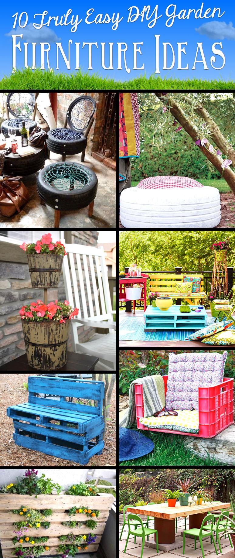 Fantastic 10 Truly Easy Yet Innovative Diy Garden Furniture Ideas Home Interior And Landscaping Ologienasavecom