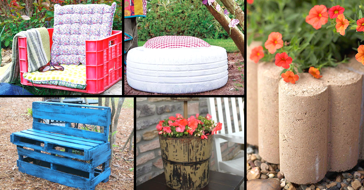 10 truly easy yet innovative diy garden furniture ideas for Homemade garden decor crafts