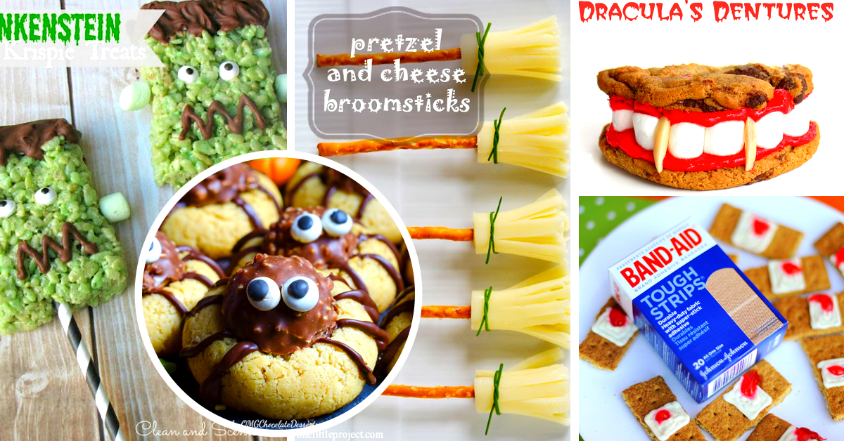 60 easy and spooky diy halloween treats for 2017 - Easy Halloween Appetizer Recipes With Pictures
