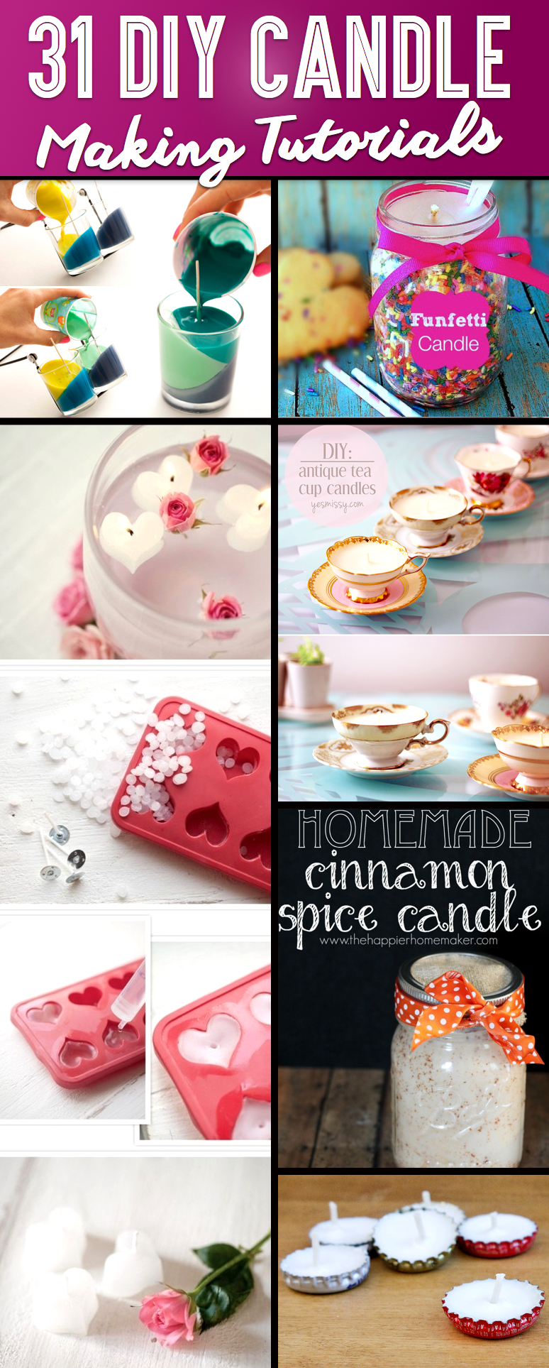 Diy Candles 31 Brilliant Diy Candle Making And Decorating Tutorials Cute Diy