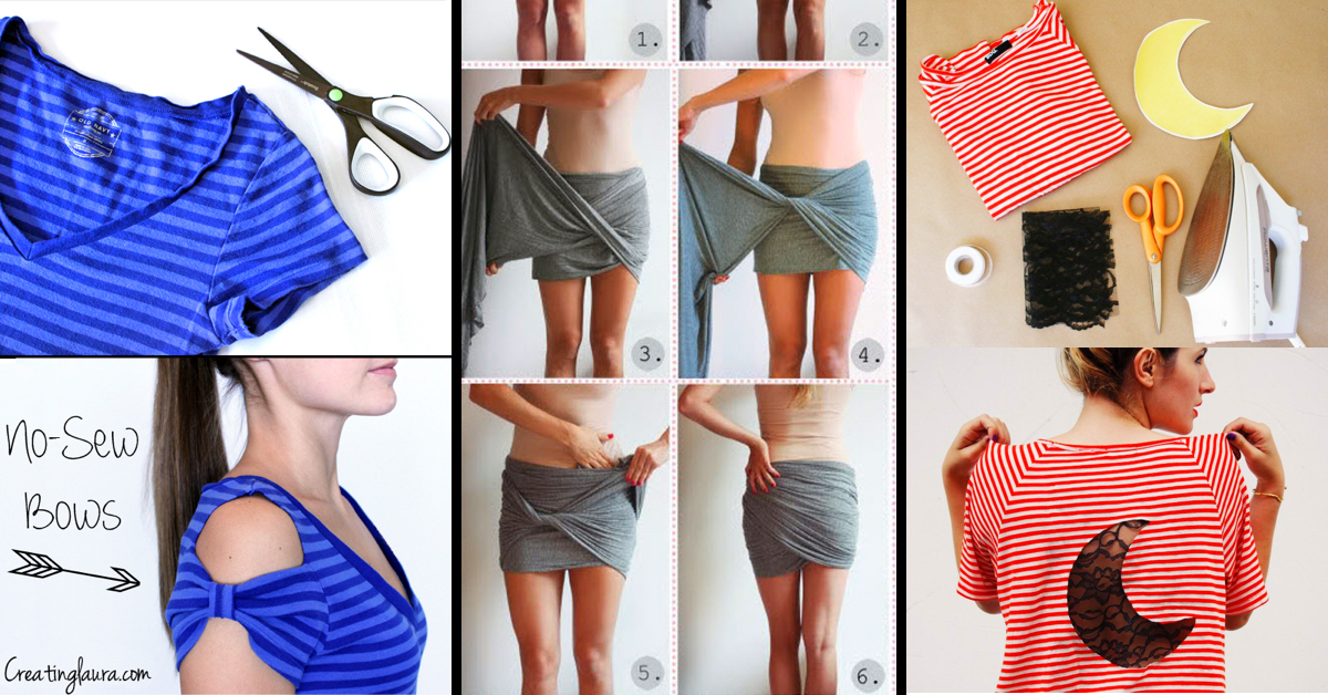 37 Truly Easy No Sew Diy Clothing Hacks Page 2 Of Cute