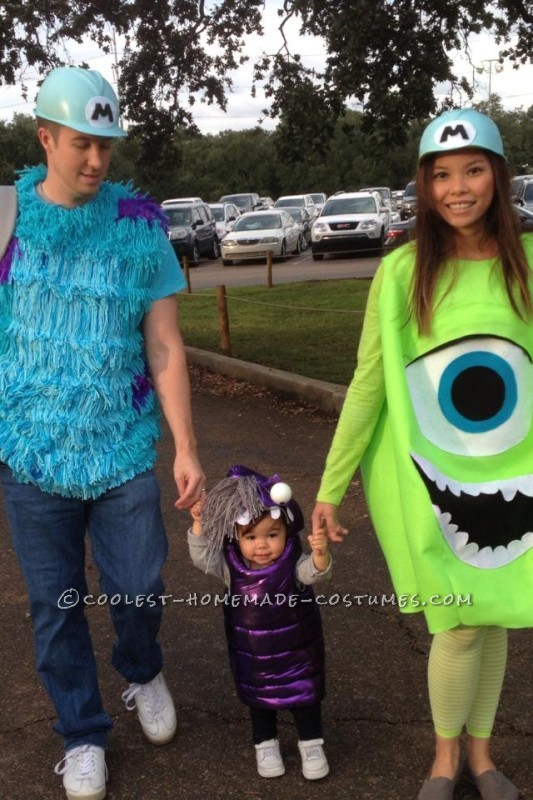 Cool DIY Monsters Inc. Family Costume  Sully Mike and Boo  sc 1 st  Cute DIY Projects : mike monsters inc halloween costume  - Germanpascual.Com
