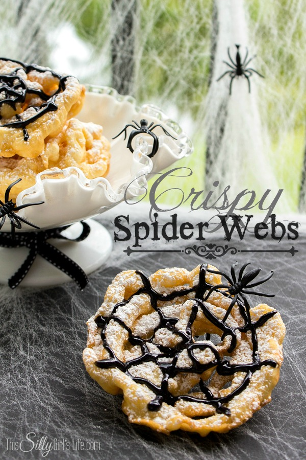Crispy Spider Webs : Mini Funnel Cakes