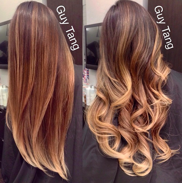 Curled Balayage. After having colored your hair