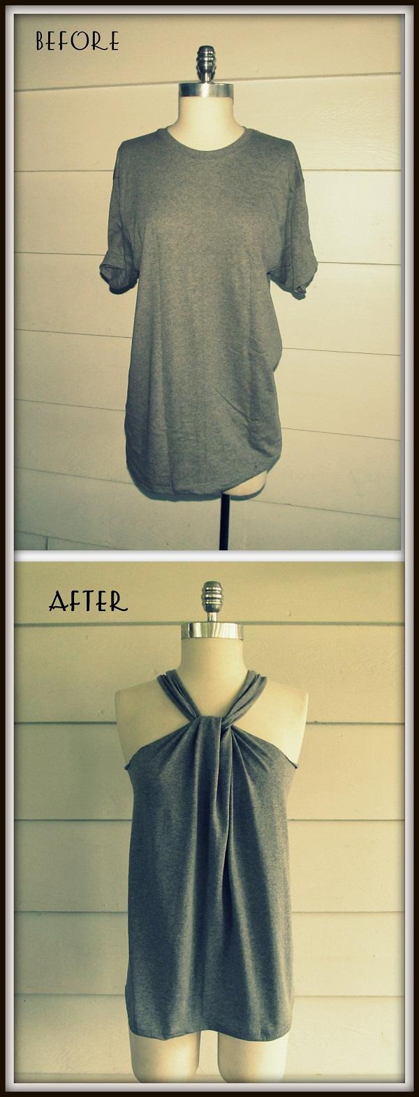 DIY No-Sew Tee-Shirt Halter